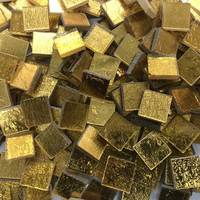 Gold mosaic 24K glatt, 15x15mm