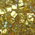 Gold mosaic 24K moving surface, 10x10mm /  Gold No 0011